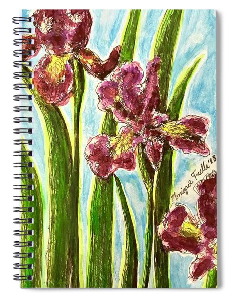 Nostalgic Irises Spiral Notebook