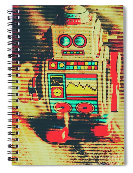 Nostalgic Tin Sign Robot Spiral Notebook
