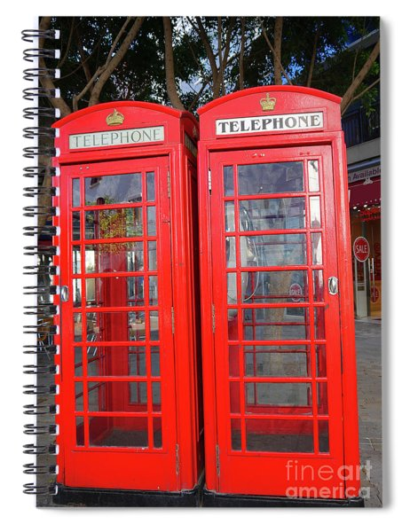 Not Quite Identical Twin Phone Boxes In Gibraltar Spiral Notebook