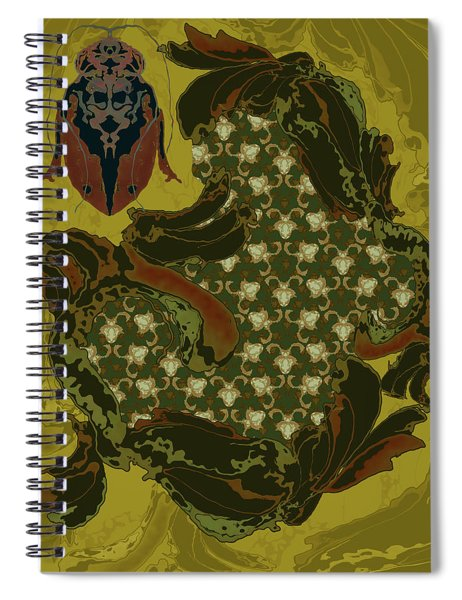 Nouveau Water Beetle Spiral Notebook