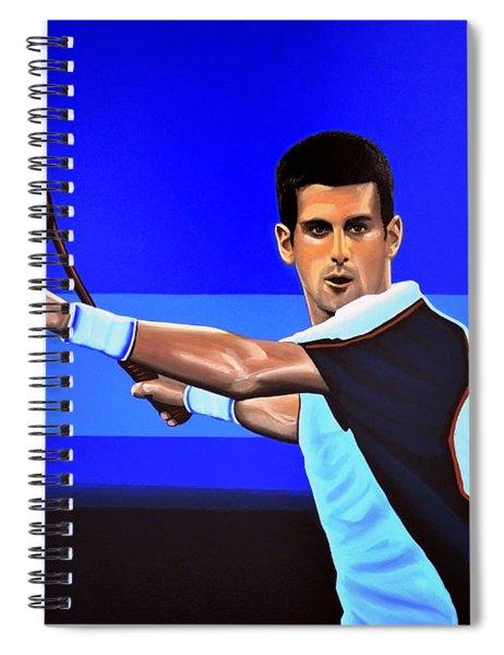 Novak Djokovic Spiral Notebook