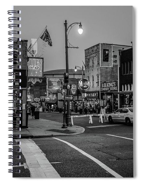 Now Entering Beale  Spiral Notebook