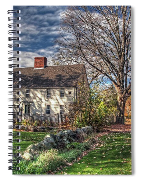 Noyes House In Autumn Spiral Notebook
