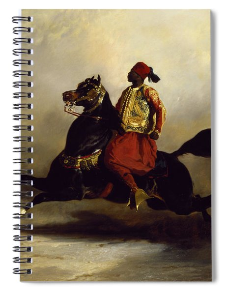 Nubian Horseman At The Gallop Spiral Notebook