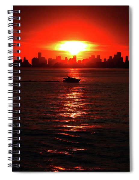 Nuclear Miami Sunset Spiral Notebook