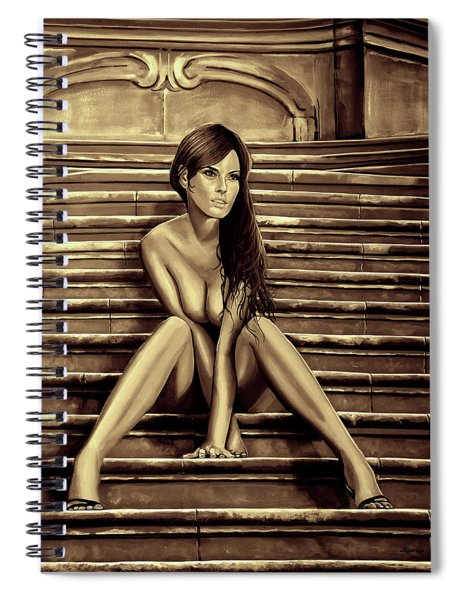 Nude City Beauty Sepia Spiral Notebook