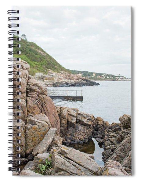 Nude Girl On Rocks Spiral Notebook
