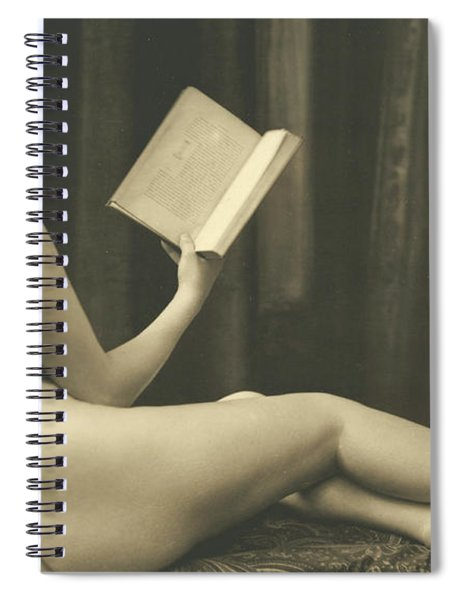 Nude Reading A Book  Spiral Notebook