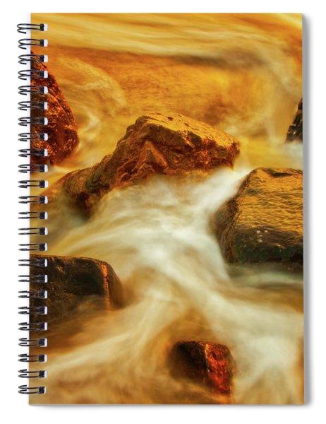 Nuggets Of Gold Spiral Notebook by Rick Furmanek