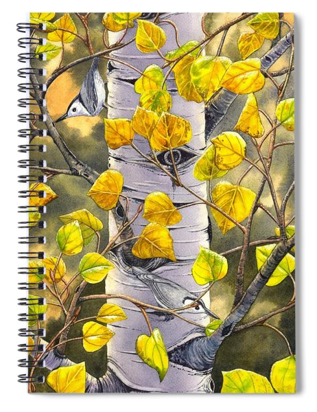 Nuthatches Spiral Notebook