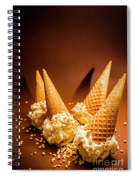 Nuts Over Ice-cream. Birthday Party Background Spiral Notebook