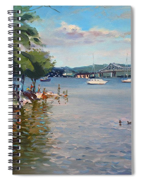 Nyack Park By Hudson River Spiral Notebook