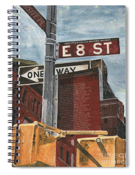 Nyc 8th Street Spiral Notebook by Debbie DeWitt