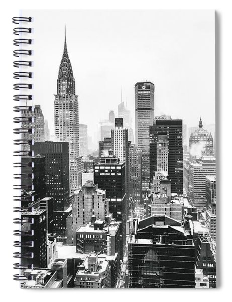 Nyc Snow Spiral Notebook by Vivienne Gucwa