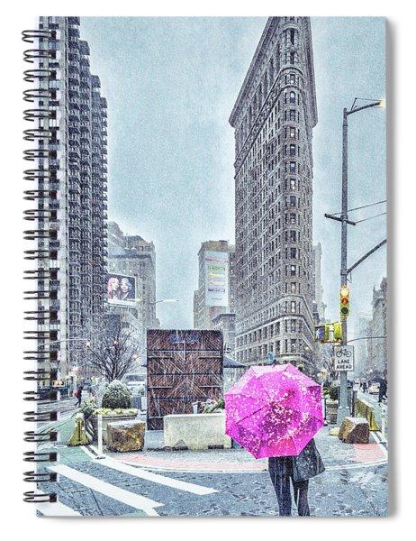 Nyc Snowy Scene Spiral Notebook