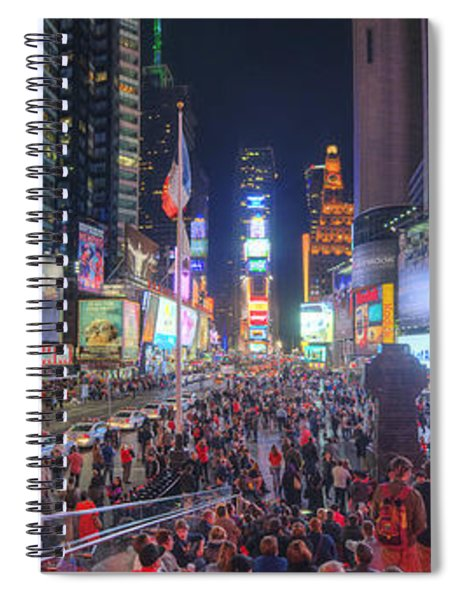 Nyc Times Square Panorama Spiral Notebook