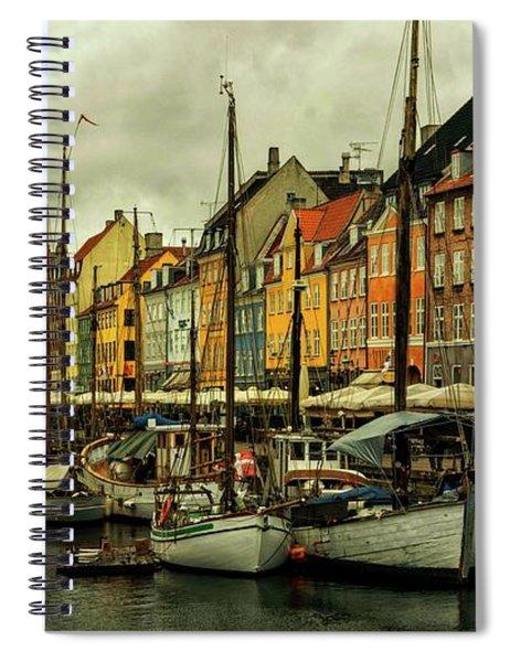 Nyhavn In Copenhagen Spiral Notebook