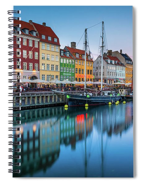 Nyhavn Reflections Spiral Notebook