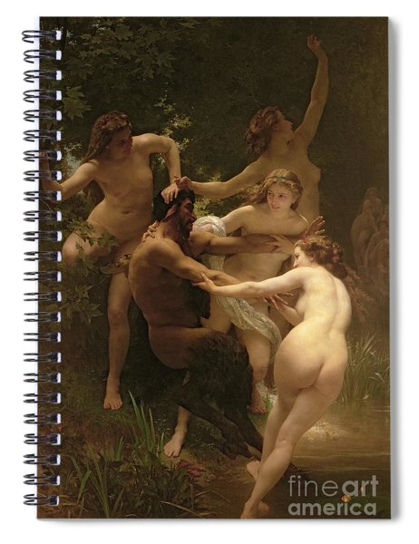 Nymphs And Satyr Spiral Notebook