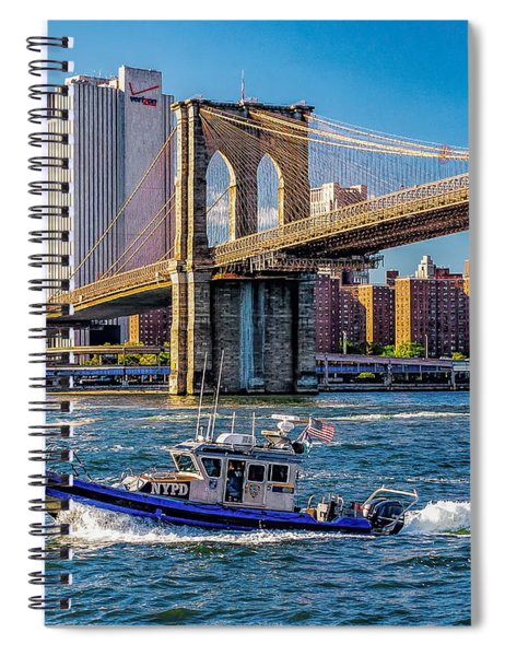 Nypd On East River Spiral Notebook