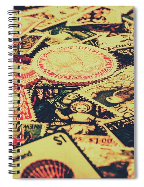 Nz Post Background Spiral Notebook