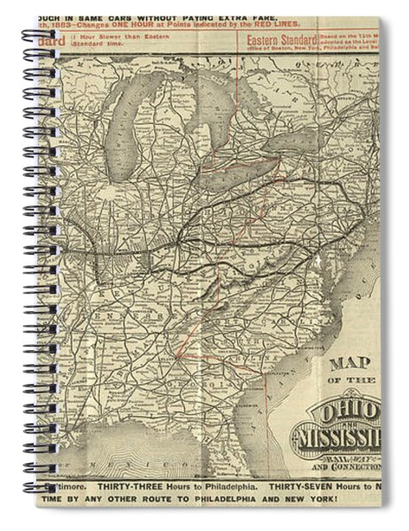 O And M Map Spiral Notebook