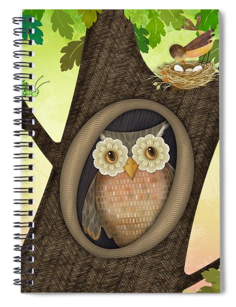 O Is For Owl Spiral Notebook