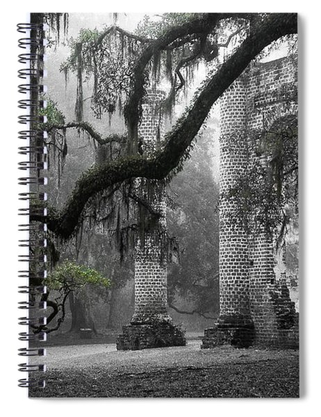 Oak Limb At Old Sheldon Church Spiral Notebook