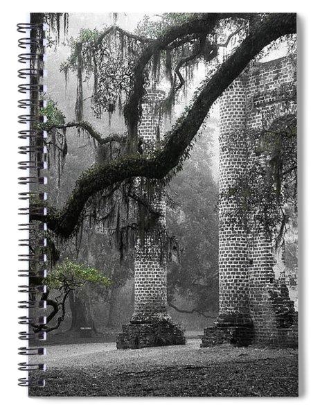 Oak Limb At Old Sheldon Church Spiral Notebook