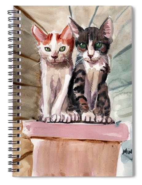 Obi And Lisa Two Kittens Spiral Notebook