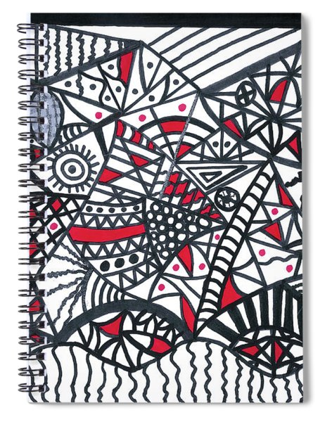 Objective Contrast With Red And Silver Spiral Notebook