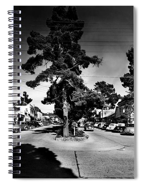 Ocean Avenue At Lincoln St - Carmel-by-the-sea, Ca Cirrca 1941 Spiral Notebook