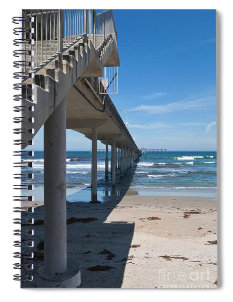 Ocean Beach Pier Stairs Spiral Notebook