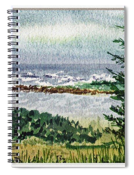 Ocean Shore Window View Spiral Notebook