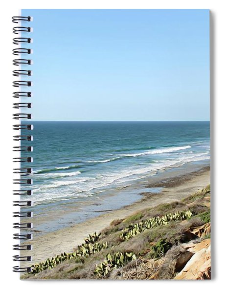 Spiral Notebook featuring the photograph Ocean View by Alison Frank