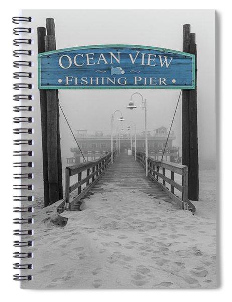 Ocean View Pier Partial Color Spiral Notebook