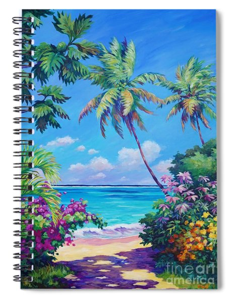 Ocean View With Breadfruit Tree Spiral Notebook
