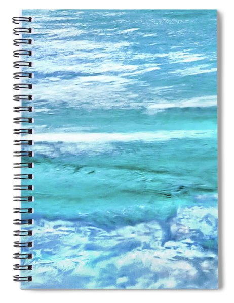 Oceans Of Teal Spiral Notebook