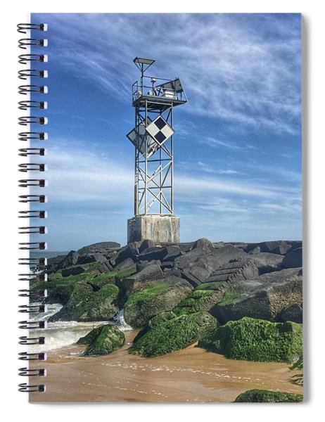 Ocmd Inlet Jetty Beacon Tower Spiral Notebook