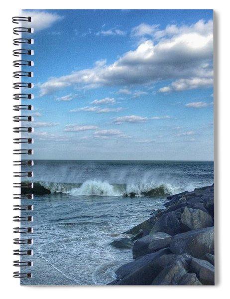 Ocmd Inlet Jetty  Spiral Notebook