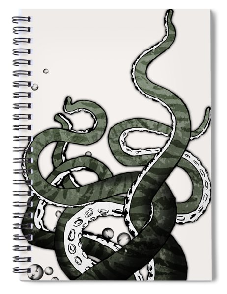 Octopus Tentacles Spiral Notebook