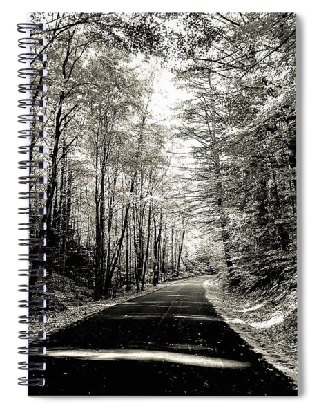 October Grayscale  Spiral Notebook