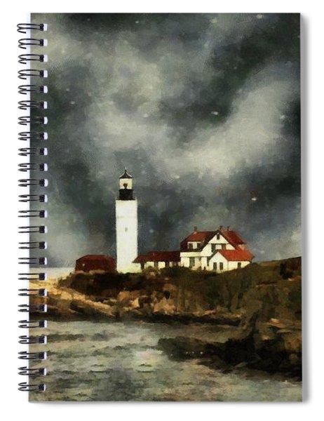October Night, Portland Head Spiral Notebook