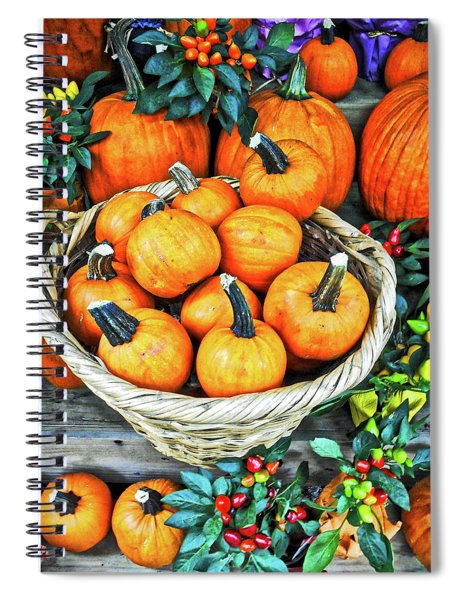 October Pumpkins Spiral Notebook