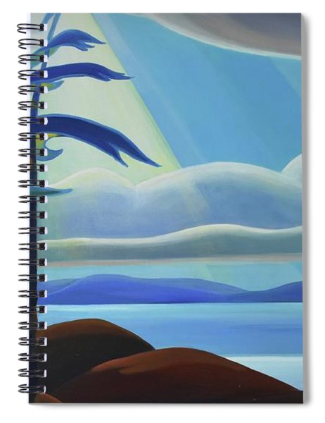 Ode To The North II - Center Panel Spiral Notebook