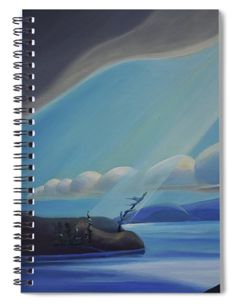 Ode To The North II - Left Panel Spiral Notebook
