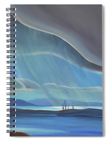 Ode To The North II - Rh Panel Spiral Notebook