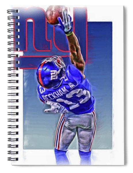 Odell Beckham Jr New York Giants Oil Art 2 Spiral Notebook