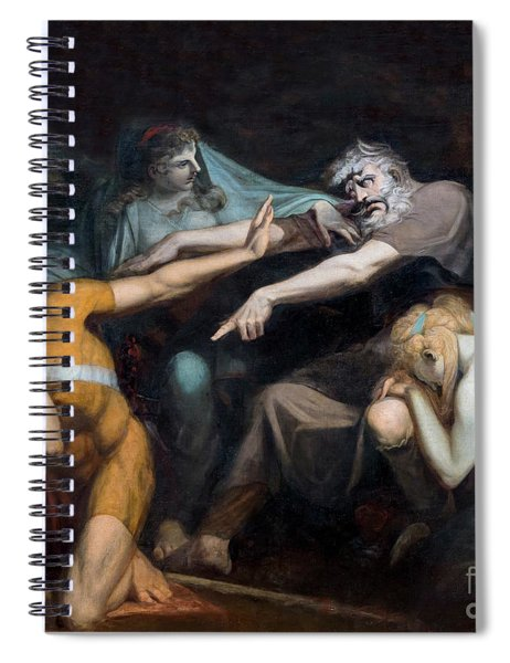 Oedipus Cursing His Son, Polynices Spiral Notebook