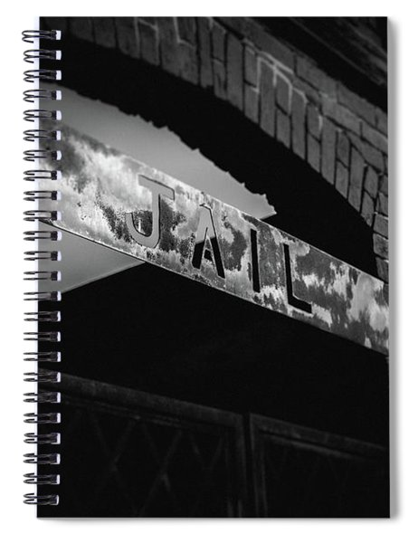Spiral Notebook featuring the photograph Off To Jail by Doug Camara